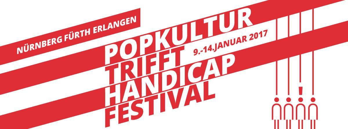 Plakat des Festivals Popkultur trifft Handicap vom 09.01. bis zum 14.01.2017