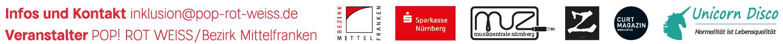 Unsere Partner: Bezirk Mittelfranken, Sparkasse Nürnberg, Musikzentrale Nürnberg, Radio Z, Curt Magazin, Einhorn Disco