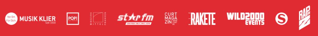 Partner des Festivals sind Musik Klier, Star FM, Curt Magazin, Rakete, Wild 2000, Sing in, Rap und Hip Hop im Z-Bau