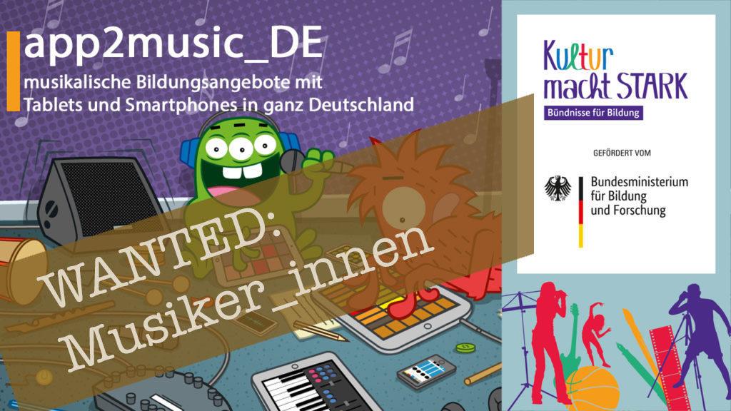 app2music_DE Flyer - dort steht, dass musiker gesucht werden