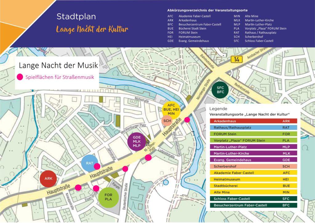 Karte Straßenmusik Stein