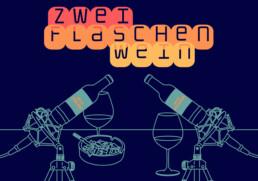Logo Podcast Zwei Flaschen Wein