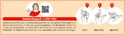 I love you in Fingeralphabet-Sprache