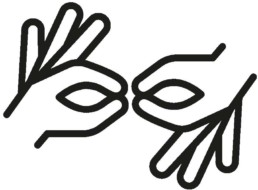 Icon und Gebärde für Dometscher