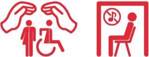 Unser Icon für sensible Umgebung und Ruheräume